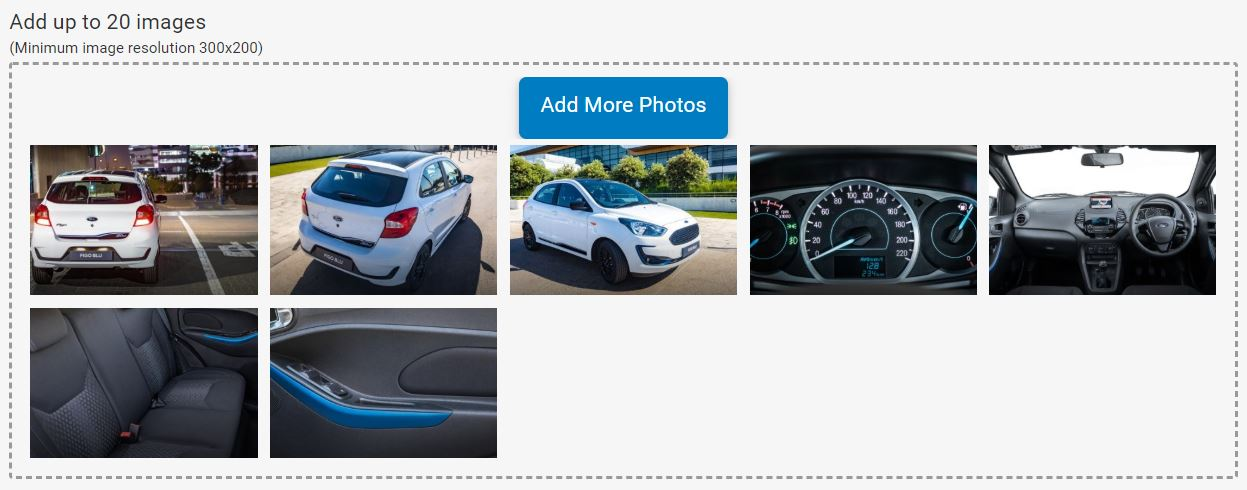 Add photos to your car advert on Junk Mail